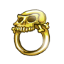 Goldener Schaedelring des Kaept n Blaubart