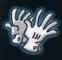 Piekfeine Handschuhe des Showagiers