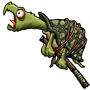 Schnappschildkröte am Stock