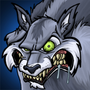 Grimmiger wolf