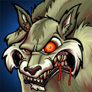 Tollwuetiger wolf