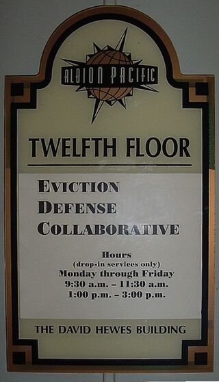 Eviction defense collaborative sign