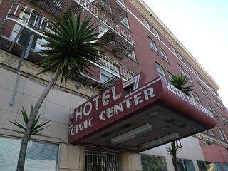 Civic Center Hotel entrance
