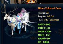 Nind-Colored Deer
