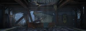 Destroyed Gray Dragons Dojo