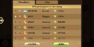 Raids Clan Members