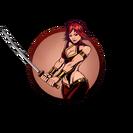 Girl katana