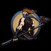 Ninja man staff