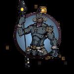 Man hero composite spear