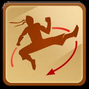 Reverse jump kick
