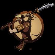 Man ninja naginata