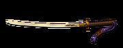 Weapon golden katana