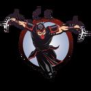 Ninja man crescent knives
