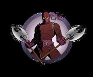 Ninja man labrys axes