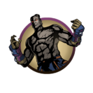 Man hero power fists