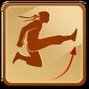 Short jump kick