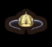 Helm horned