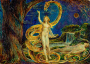 Eve tempted by the serpent william blake