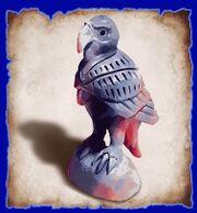 Hawk statue