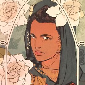 Virágos kártya Sona