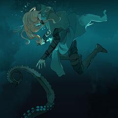 Эмма под водой