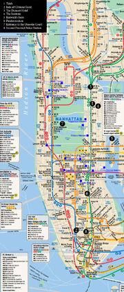Карта - Манхэттан