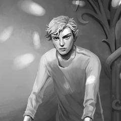 Dibujo de Ash compartido en el newsletter de Cassandra Clare