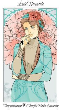 Virágos kártya Lucie