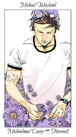 Virágos kártya Michael