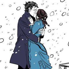 Уилл и Тэсса во время Рождества 1878