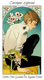 Virágos kártya Christopher