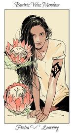 Virágos kártya Beatriz