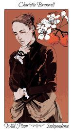 Virágos kártya Charlotte