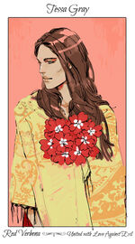 Virágos kártya Tessa