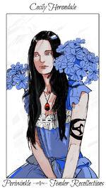Virágos kártya Cecily