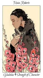 Virágos kártya Maia