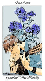 Virágos kártya Simon