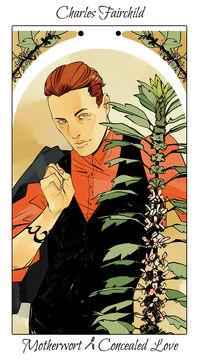 Virágos kártya Charles