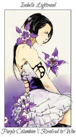 Virágos kártya Isabelle