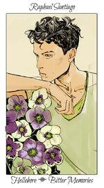 Virágos kártya Raphael