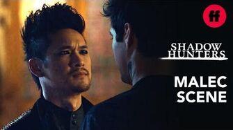"Magnus Proposes to Alec Shadowhunters Season 3, Episode 20 Aisha – ""Bridges"""