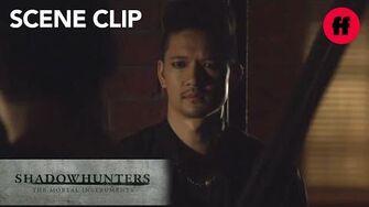 Shadowhunters Season 2, Episode 5 Malec Talking on the Balcony Freeform