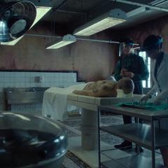 Laboratório forense / Sala de autópsia