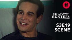 Shadowhunters Season 3, Episode 19 Izzy & Simon Talk About Superman Freeform