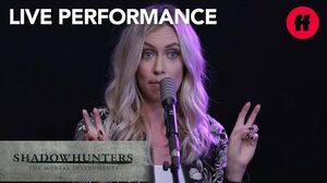 "Shadowhunters Season 2 Ruelle Live Performance ""War of Hearts"" Freeform"