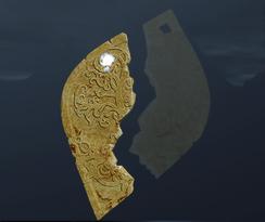 Первая половина медальона с древами (точка)