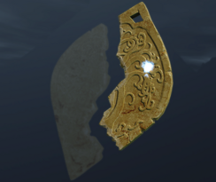 Вторая половина медальона с древами (точка)