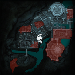 Маэдад-Тени прошлого Минас-Итиль (карта)