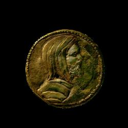Монета с профилем Эарнура