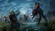 Talion riding Caragor